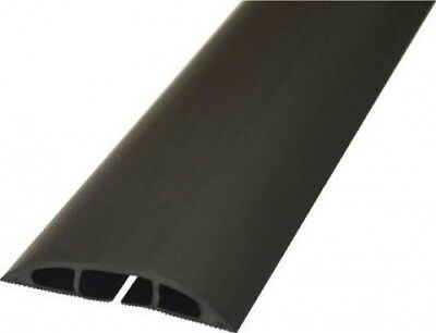D-Line Black Light Duty Floor Cable Cover Protector | 80mm Wide 9m Long