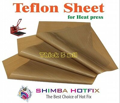 3 Pack  Thick Teflon Sheet for Heat Press 16X16   5 mil (0.005 inch)