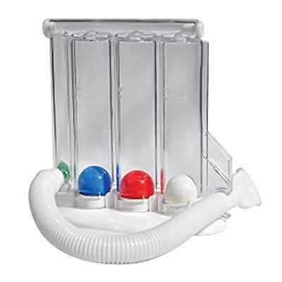 3 Ball Breathing Lung exerciser / Incentive Spirometer Respiratory Fitness