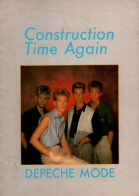 Depeche Mode 1983 Construction Tour Concert Program Book / Very Good To Ex
