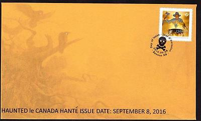 Canada Haunted 2016 FDC, Dungarvon Whooper, limited handmade edition