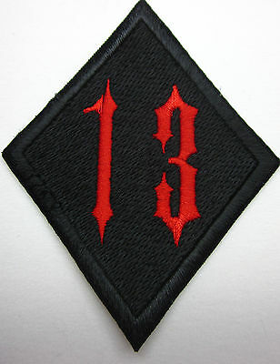 13 NUMBER 13 Biker  Badge Iron on Patch