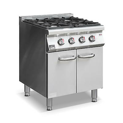 New Commercial Gas 4 Burner / Hob Gas Cook top Stove top on Cabinet LPG