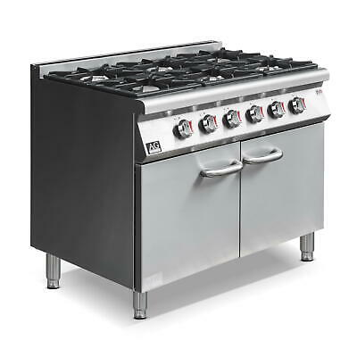 New Commercial Natural Gas 6 Burner / Hob Gas Cook top Stove top on Cabinet