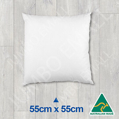 Aust Made Cushion Insert Polyester Premium Lofty Fibre-55cm x 55cm