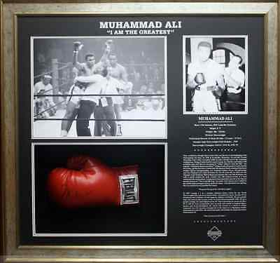 "Muhammad Ali ""i Am The Greatest "" Hand Signed Official Full Size Boxing Glove"