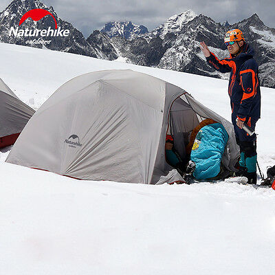 Waterproof Portable Tent UV Resistant for 3 Person in Grey for Camping Winter