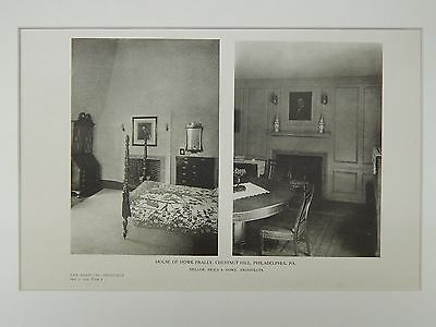 Interior, House of Howe Fraley, Philadelphia, PA, 1924, Lithograph