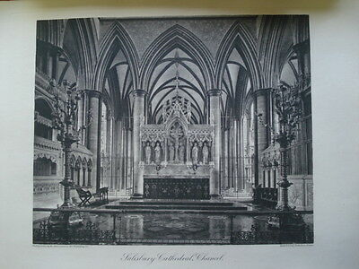 Salisbury Cathedral, Chancel, 1886- Photogravure
