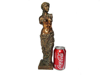Greek Style Large Metal Statue Of Venus De Milo, Vintage Replica!!!