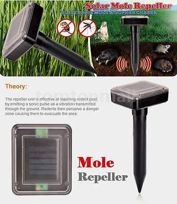 Solar Mouse Rodent Pest Repellent Mole Garden Sonic Wave Solar Pest Repeller WYQ