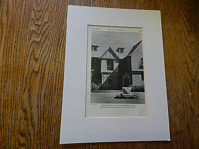 House of John T. J. Clunie,West Manchester, MASS.,EXTERIOR VIEWS,1928,Lithograph