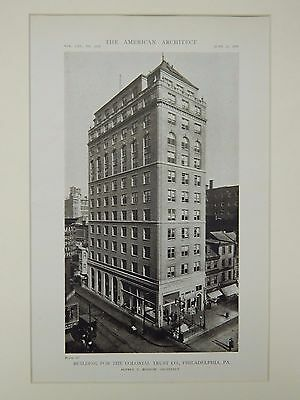 Building for the Colonial Trust Co., Philadelphia, PA, 1919, Lithograph