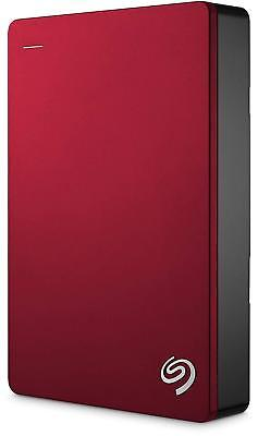 "Seagate Backup Plus Portable 4TB USB 3.0 2.5"" External Hard Disk Drive HDD Red"
