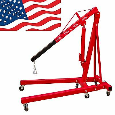A+ 2 Ton Engine Hoist Folding Picker Shop Crane Auto Car Shop Free Shipping