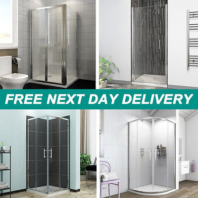 Shower Enclosure 900x900mm Bifold/Pivot/Quadrant/Corner Entry Cubicle and Tray