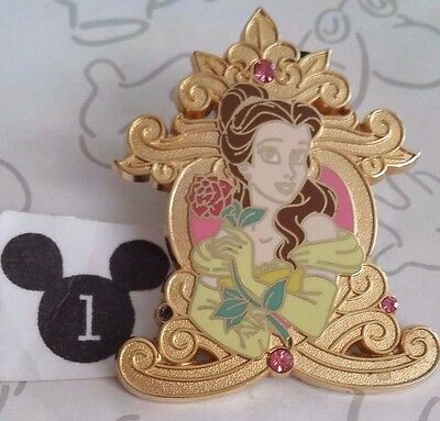 Belle Baroque Gold Booster Pink Jewels Princess Beauty & the Beast Disney Pin