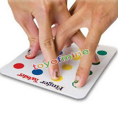 Funny Finger Twister Board Game Mini Version Table Party Games Valentine Gift