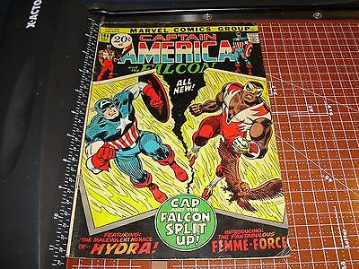 CAPTAIN AMERICA #144 December 1971 Marvel Comics New FALCON Costume HYDRA Romita
