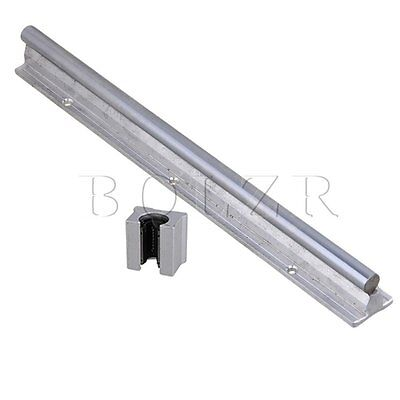 2pcs Silver 12mm Shaft 30cm CNC Linear Motion Bearing Rail & Open Bearing Slide