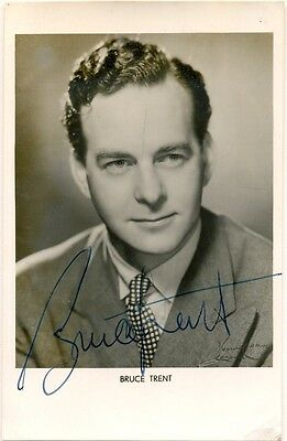 Bruce Trent signed photo autograph 1950s English actor/singer