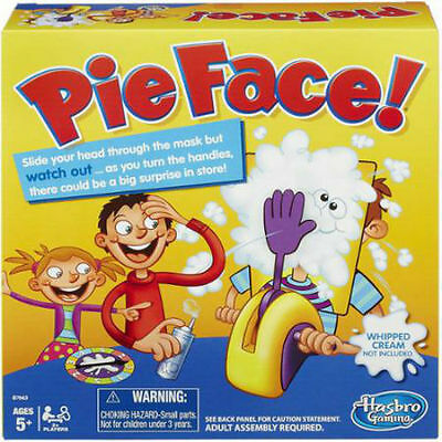 2016 Hot Sale Toy Hasbro Rocket Gaming Pie Face Game In Hand Xmas Kids Gift