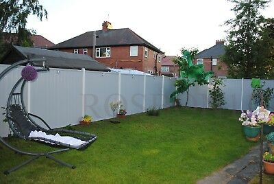 Pvc Plastic Fence Panels With Posts Reinforced With Metal Profile Garden Fencing