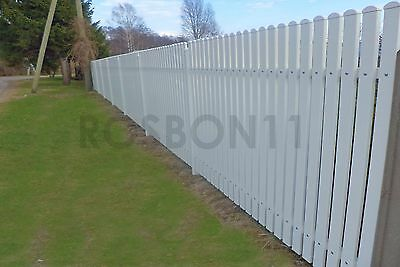 Classic Spaced Picket Fence Panels With Posts Reinforced With Metal Profile