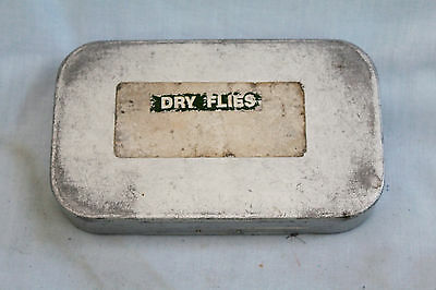 """6"""" x 3.1/2 Wheatley dry fly fishing box with16 compartments  with 90 + flies"""