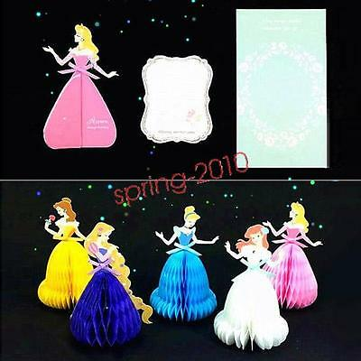 Princess Beauty Belle 3D Pop Up Greeting Card Xmas Tree Decoration Xmas Gift New