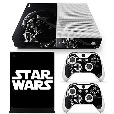 Star Wars Darth Vader Vinyl Skin Sticker for Xbox One S Console & 2 Controllers