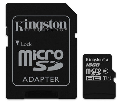 16GB Kingston micro SD HC Memory Card For Olympus WS-812 Voice Recorder