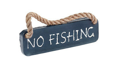 Classic Nautical No Fishing Sign Aquarium Ornament • EUR 2,74