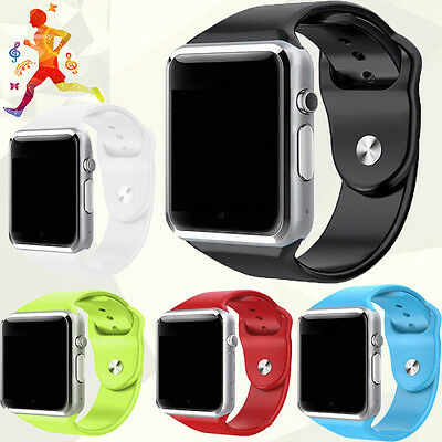 A1 Bluetooth Smart Watch GSM SIM Card Camera Call For Android iOS Phone Mate US
