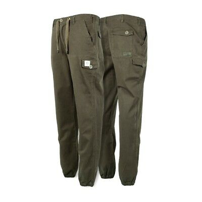 Nash Tackle NEW Carp Fishing Heavy Combat Trousers Green Regular Length