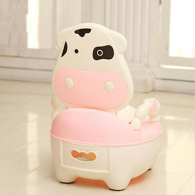 Kid Child Baby Toddler Toilet Training Potty Seat Chair Urinal Trainer Pink