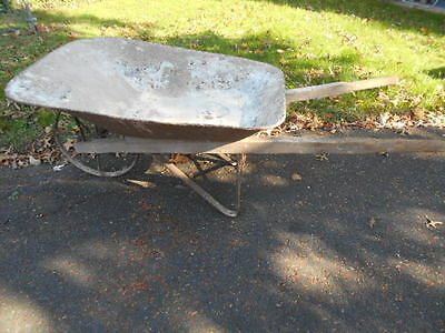 Antique 1930's Era Wheelbarrow w/8 Spoke Iron Wheel-Farm/Garden/Display