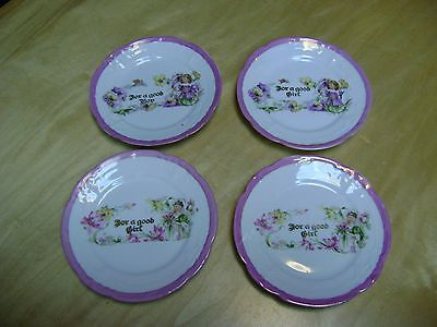 Rare Antique Set Of Germany Porcelain China Pk Silesia For A Good Girl