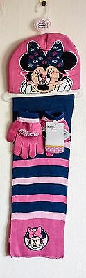 Kids, Childrens Character Hat,gloves & Scarf Set Minnie Mouse