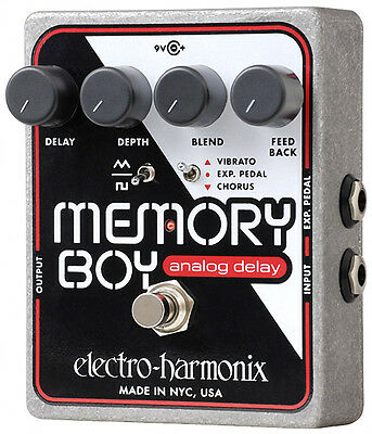 Electro Harmonix Memory Boy Analogue Delay Effects Pedal With Power Supply (NEW)