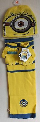 Kids, Childrens Character Hat,gloves & Scarf Set Minions