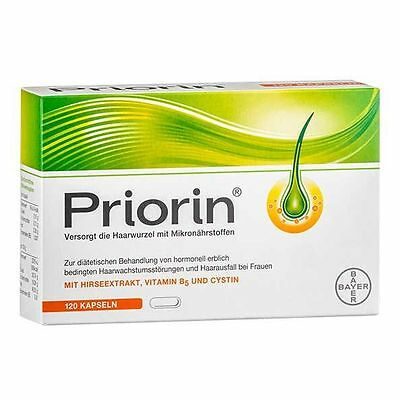 PRIORIN BAYER 120 caps Hair growth Anti hair loss Made in Germany