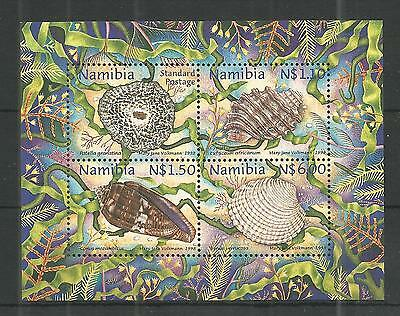 Namibia 1998 Shells Minisheet Sg,ms799 Un/mm Nh Lot 1240A