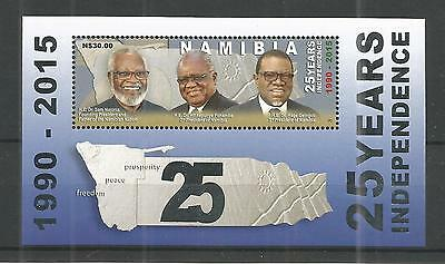 Namibia 2015 25 Years Of Independence Minisheet Un/mm Nh Lot 1243A