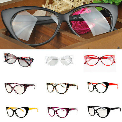 Cat Eye Glasses Sexy Retro Women Eyewear Frame Vintage Eyewear 10 Colors