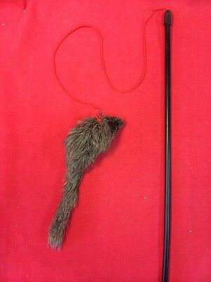 Cat Kitten Toy Catnip 7 Inch Fur Mouse Dangler Interactive