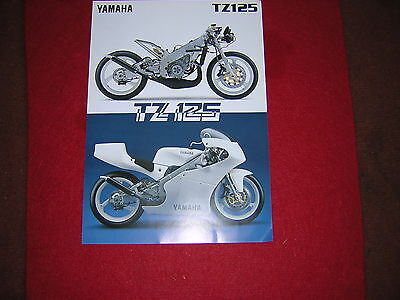 Yamaha TZ125 '97 Specification Sheet. Produced by Yamaha. New