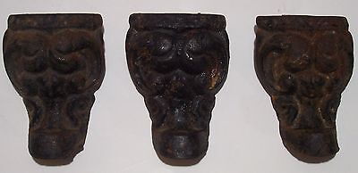 Antique Cast Iron Legs/Feet ~  Wood Burning Stove