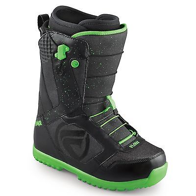 Flow ANSR Quickfit Snowboard Boots Black Lime UK 8