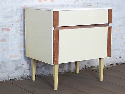 alter Nähtisch Nachtschrank Bed Side Table Cabinet Mid Century 50er 60er 50s 60s